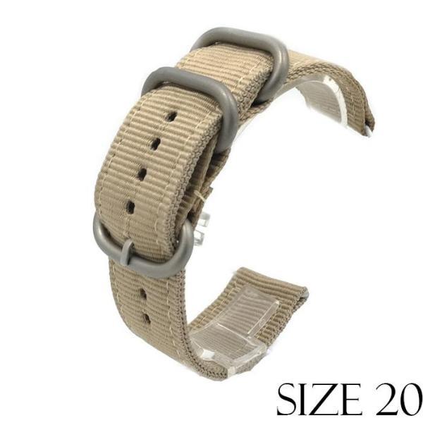 Dây vải NATO 2 mảnh cho các loại đồng hồ Size 20mm
