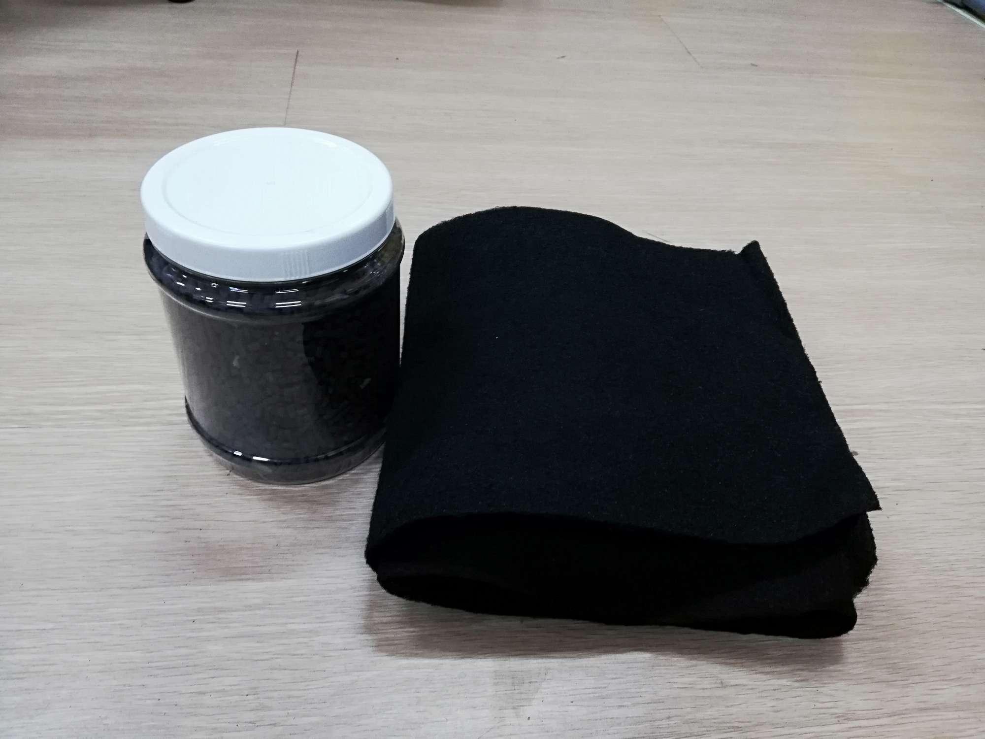Hình ảnh Combo 1hộp than hoạt tính 1kg + 4 miếng vải lọc cacbon