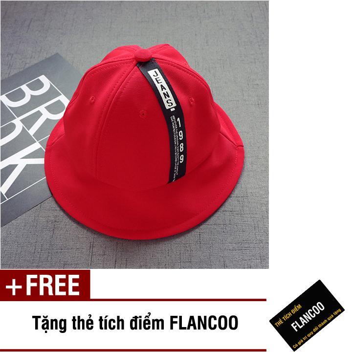 Nón vành vải jean thời trang bé gái Flancoo 1702 (Đỏ) + Tặng kèm thẻ tích điểm Flancoo