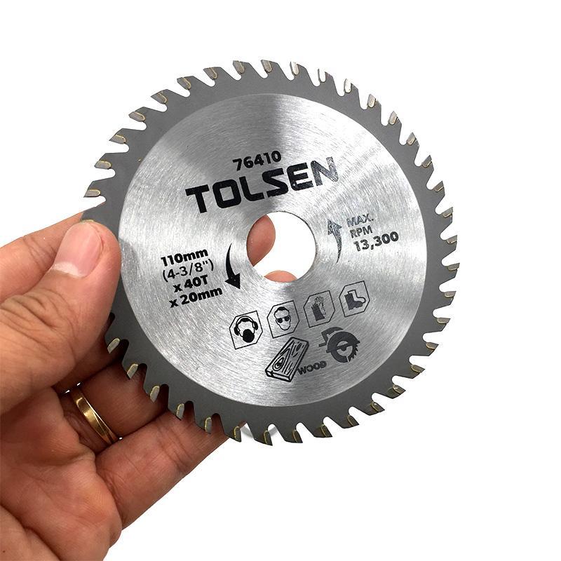 Đĩa Cưa Gỗ TCT 110mm Tolsen 76410