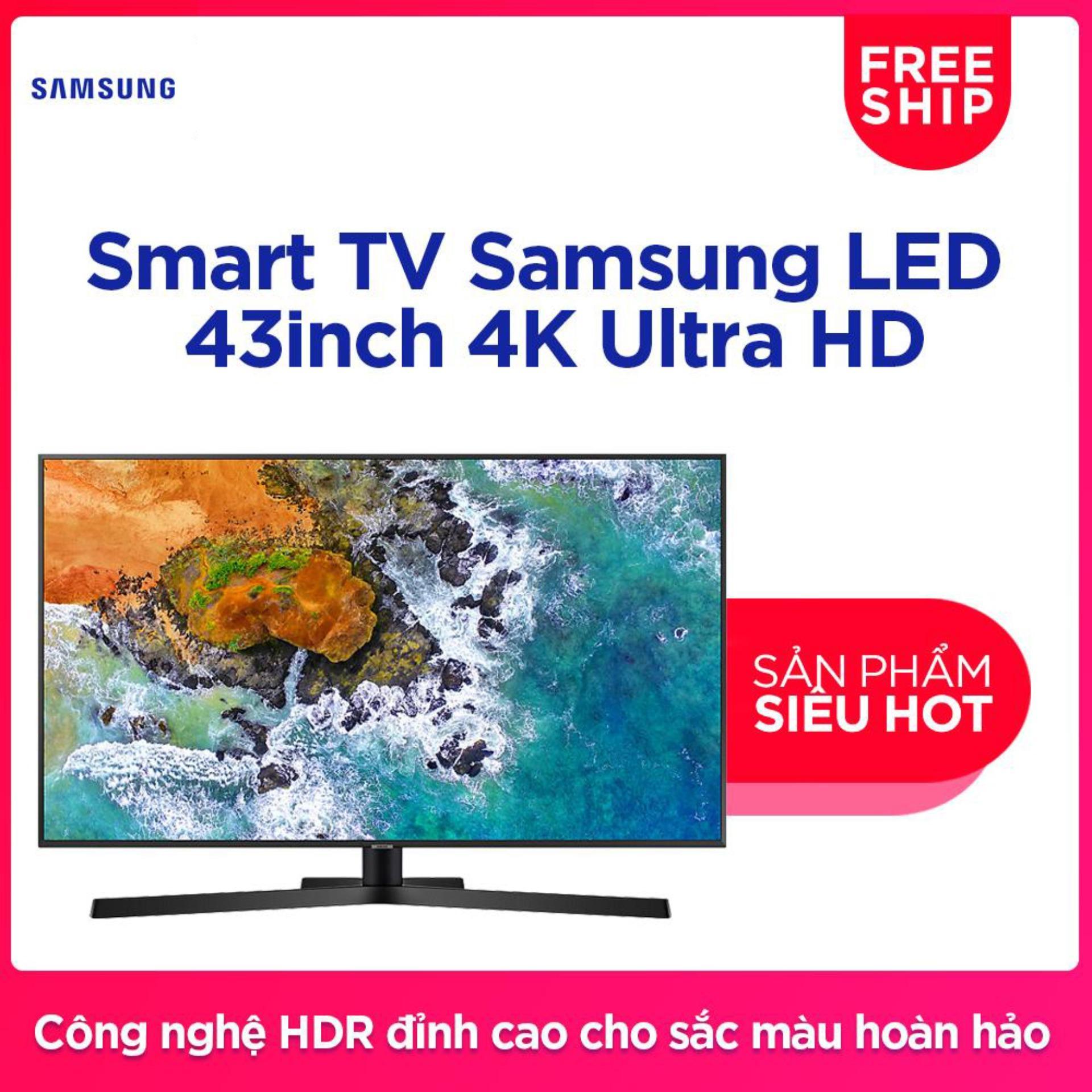 Smart TV Samsung LED  43inch 4K Ultra HD - Model UA43NU7800KXXV (Đen) - Hãng phân phối chính thức