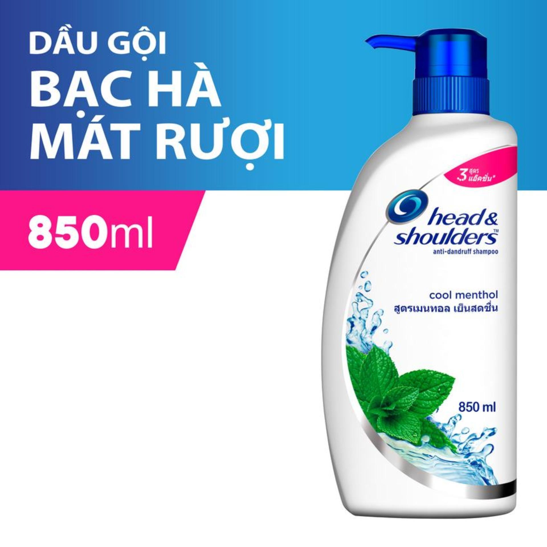 Dầu Gội Head & Shoulders Bạc Hà Mát rượi 850ml