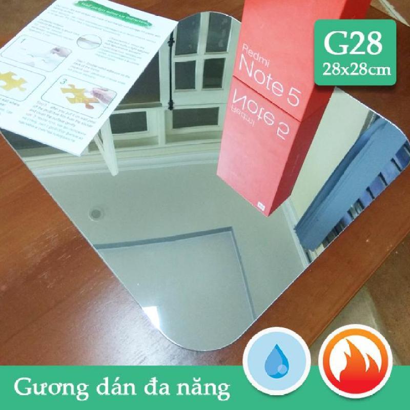 Gương dán nhà tắm,tủ gỗ CN dầy 1mm soi nét căng G28 28x28cm x4 tấm