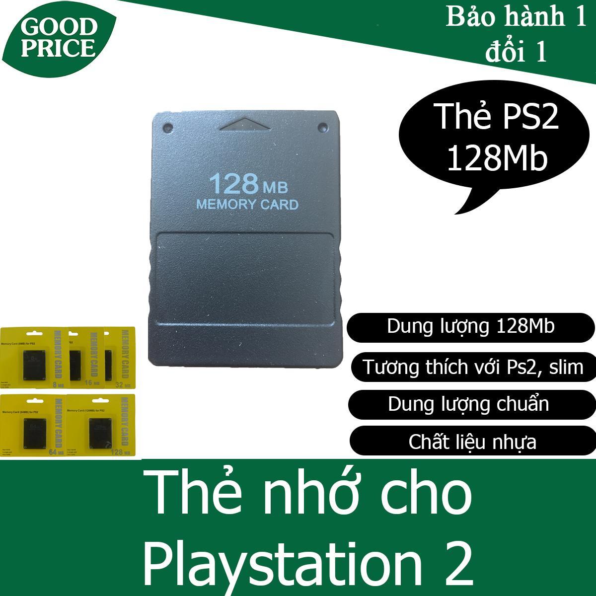 Thẻ nhớ Playstation 2 128Mb, thẻ nhớ PS2 128Mb