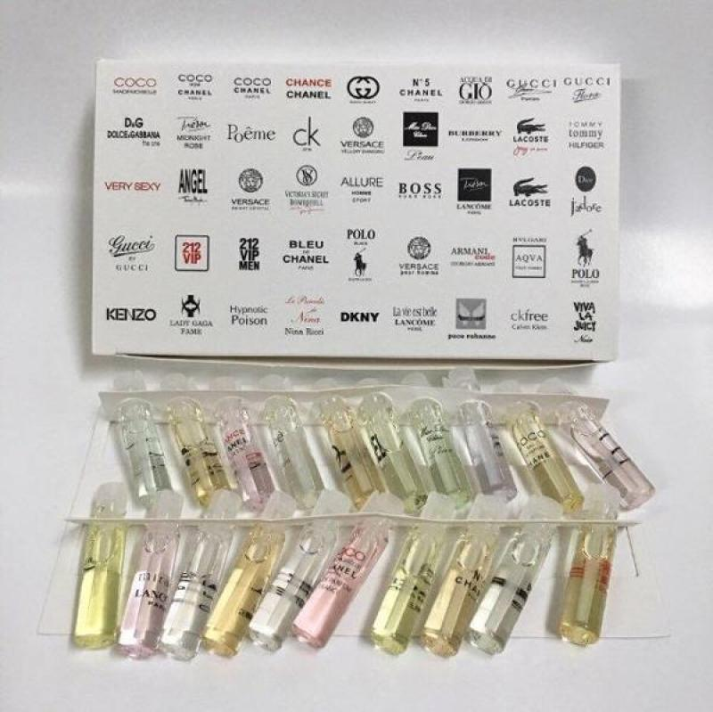 Nước hoa mini bộ test 20 mùi hàng chuẩn pháp