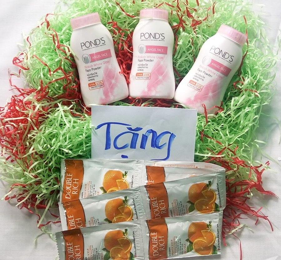 Combo 03 Chai Phấn Thơm Pond's 50g Thailand - Tặng 10 gói Dầu gội/dầu xả tóc/sữa tắm bất kỳ