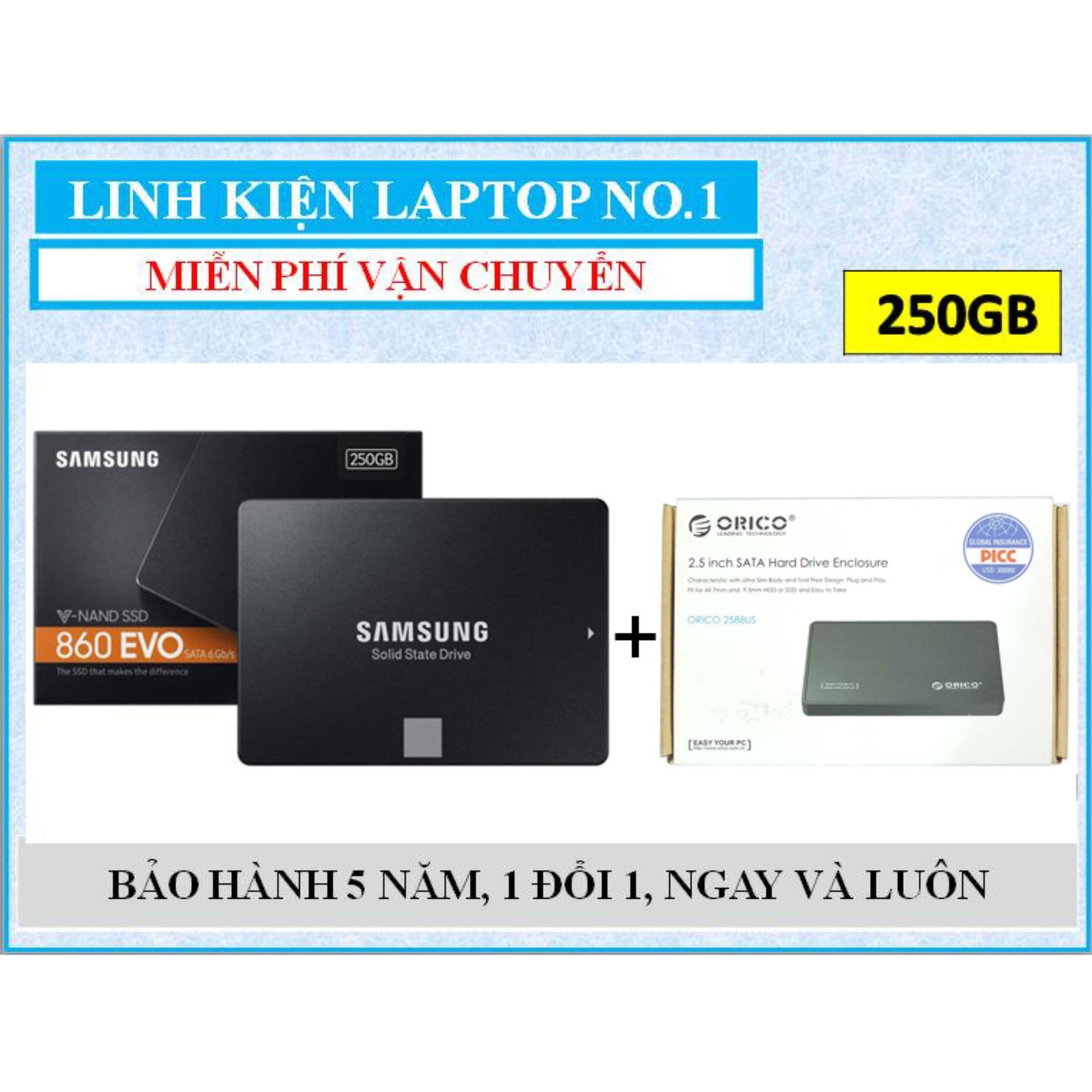 Hình ảnh Ổ cứng SSD Samsung 860 EVO 250GB SATA III + Tặng kèm Hộp đựng (box) ổ cứng Orico 2.5
