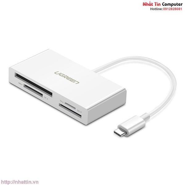 Đầu đọc thẻ USB Type-C cho thẻ nhớ TF/SD/CF/MS Ugreen UG-40444 cao cấp