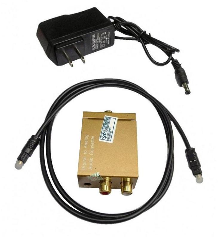 Bộ Chuyển Âm Thanh Từ Cổng Quang Optical Sang Cổng AV Trắng Đỏ (Digital to Analog Audio Converter)