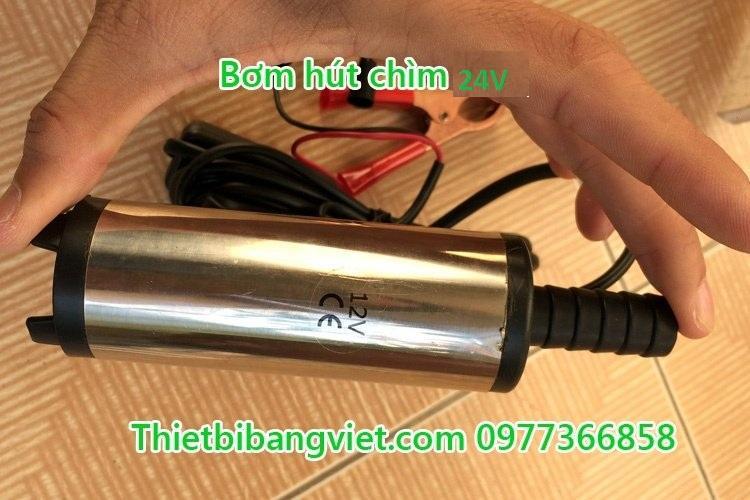 Máy Bơm hút chìm, bơm ngập nước, dầu Diesel, dầu lửa (Inox) 24V 12L/min Bằng Việt