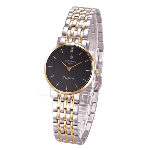 [HCM]Đồng hồ nữ siêu mỏng Sunrise DL737SWB Fullbox hãng kính Sapphire chống xước