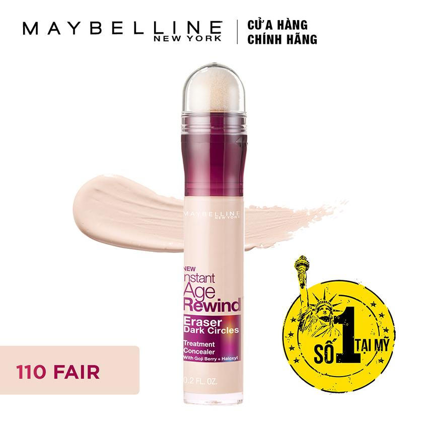Bút cushion che khuyết điểm, giảm quầng thâm Maybelline Instant Age Rewind Concealer 110 Fair