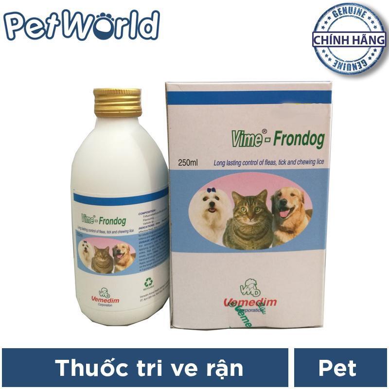 Xịt đặc trị diệt ve, bọ chét chó mèo Vime-Frondog 250ml