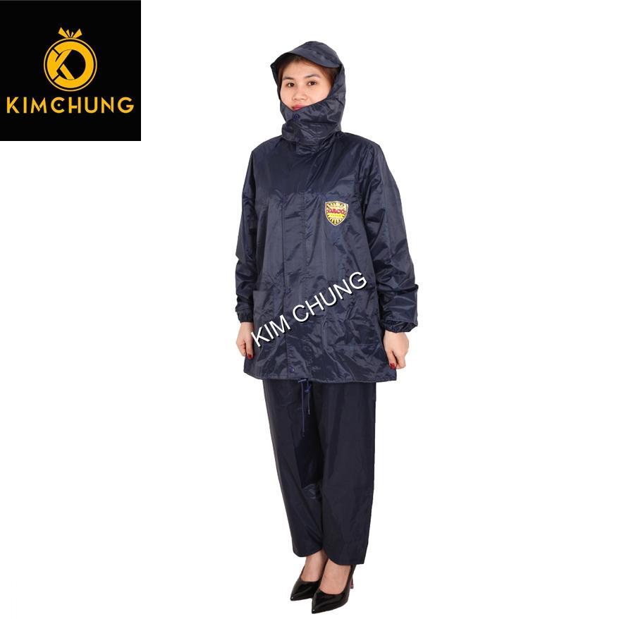 Áo mưa bộ vải dù cao cấp, 2 khóa kéo siêu bền, không thấm nước (2XL)