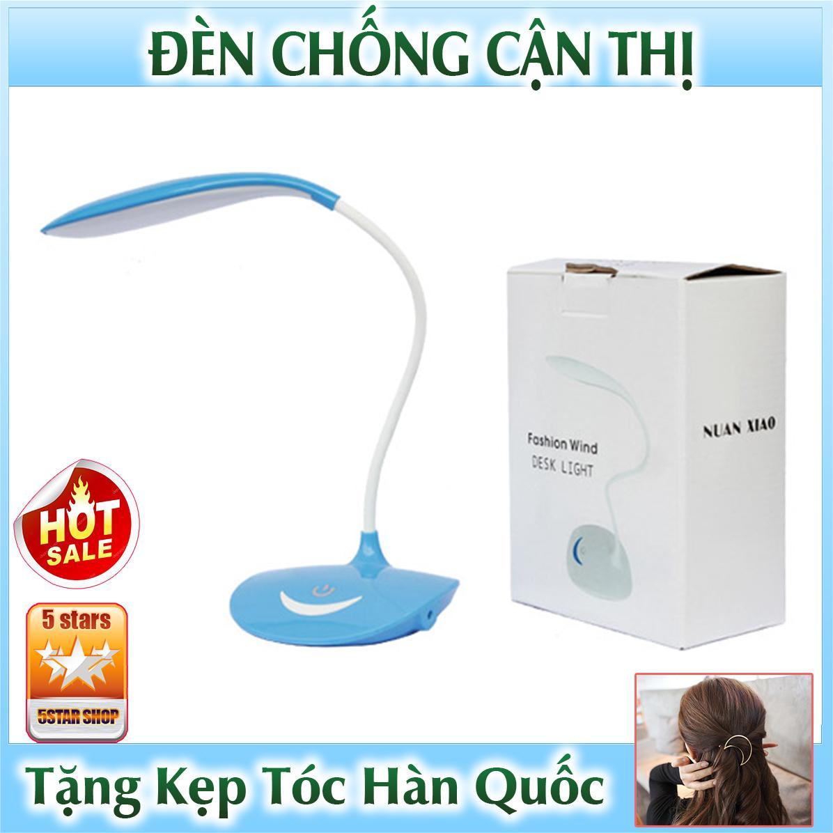 Đèn Học Led Chống Cận Thị Để Bàn Cảm Ứng Có Tích Điện - Tặng Kẹp Tóc Hàn Quốc (DEN.NUAN)