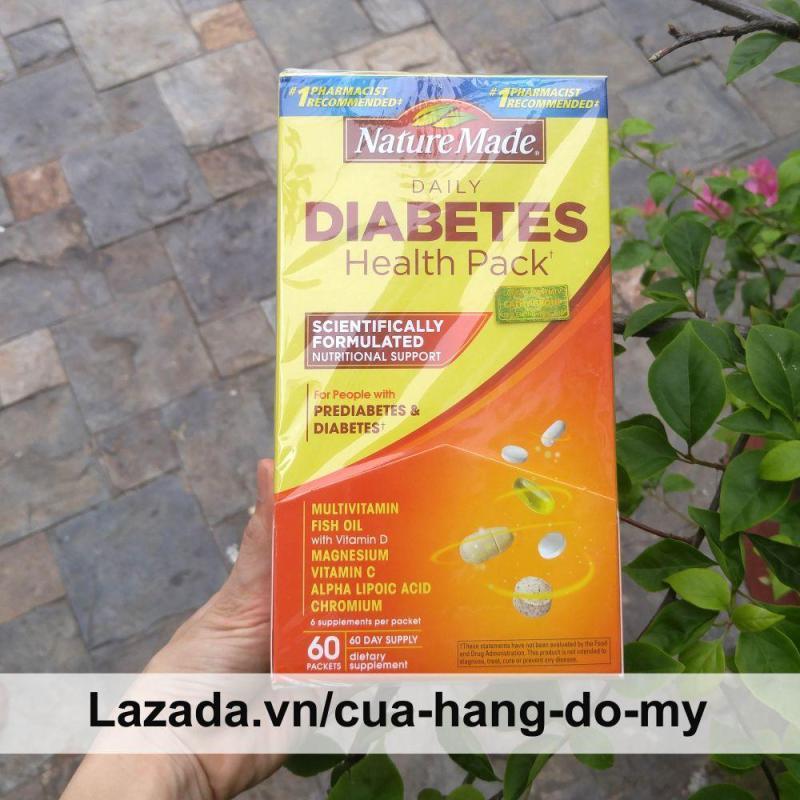 Thực phẩm viên bổ sung Diabetes Health Pack Nature Made Vitamin Cho Người Tiểu Đường, giúp cơ thể khỏe mạnh, giảm bệnh tật nhập khẩu