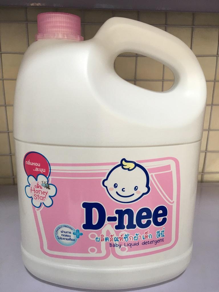 Nước giặt xả Dnee 3000ml - Màu hồng