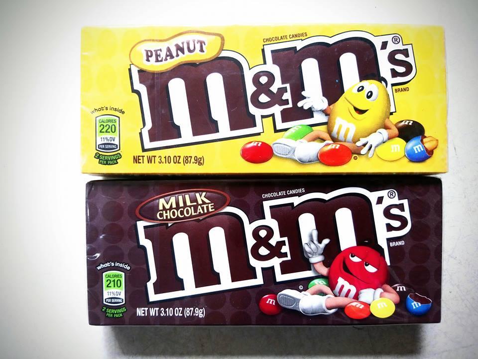Combo 2 hộp kẹo socola M&M 87.9g của Mỹ