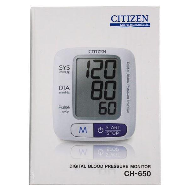 Nơi bán Máy đo huyết áp điện tử cổ tay tự động Citizen (Japan) - CH650