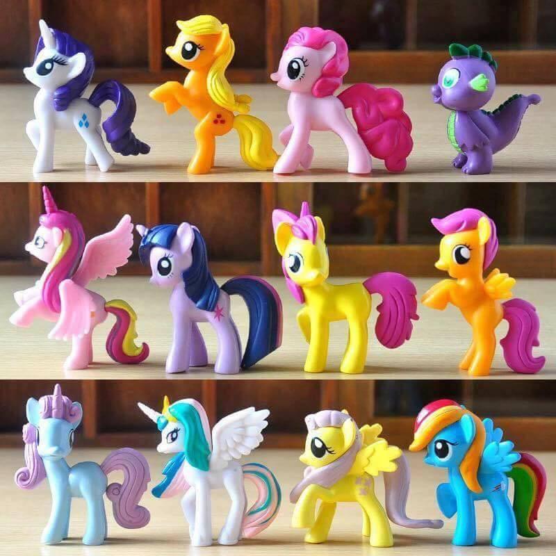 Bộ 12 chú ngựa poly thiên thần loại to 7cm Nhật Bản