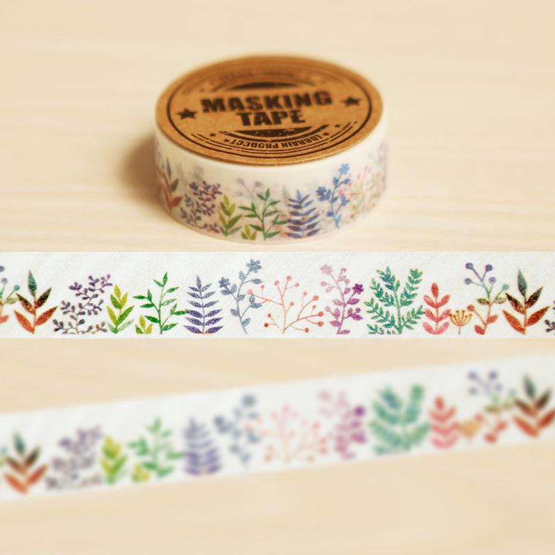 Mua 1.5cm*10m Herbaceous Plant Washi Tape Diy Decoration Scrapbooking Planner Masking Tape Adhesive Tape Kawaii Stationery - intl