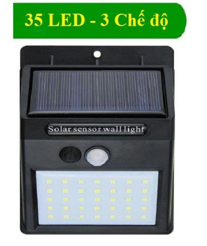 Đèn cảm biến hồng ngoại sử dụng năng lượng mặt trời solar 35 bóng led pin 1200mah (3 chế độ sáng khác nhau)