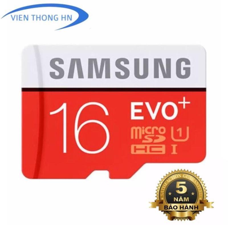 Thẻ nhớ MicroSD SAMSUNG EVO PLUS 16GB UHS 1 - BH 5 NĂM 1 ĐỔI 1