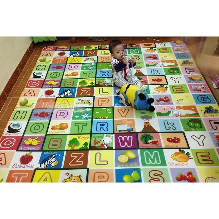 Hình ảnh Thảm chơi 2 mặt cho bé Maboshi 1m6 x 2m