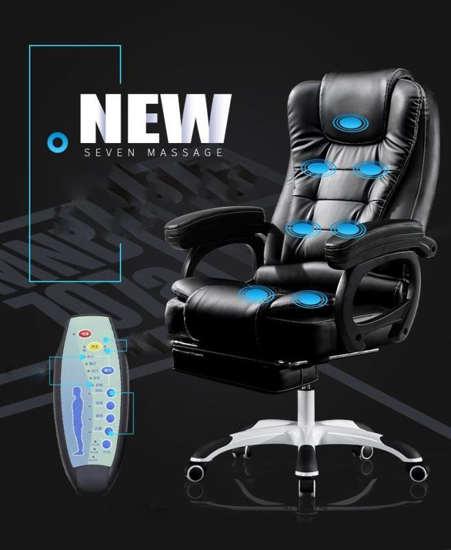 Ghế văn phòng bọc da cao cấp massage 7 điểm, ngả lưng, kê chân thư giãn, ngủ trưa tiện dụng, sang trọng giá rẻ