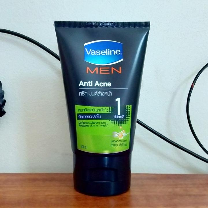 Sữa rửa mặt Vaseline Men Anti Acne  Thái Lan 100G