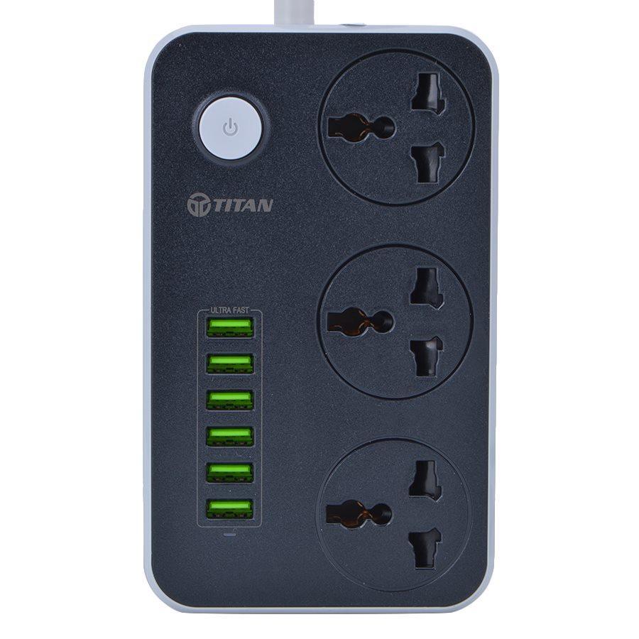 Ổ cấm điện thông minh 6 USB sạc nhanh 3.4A TITAN CD01