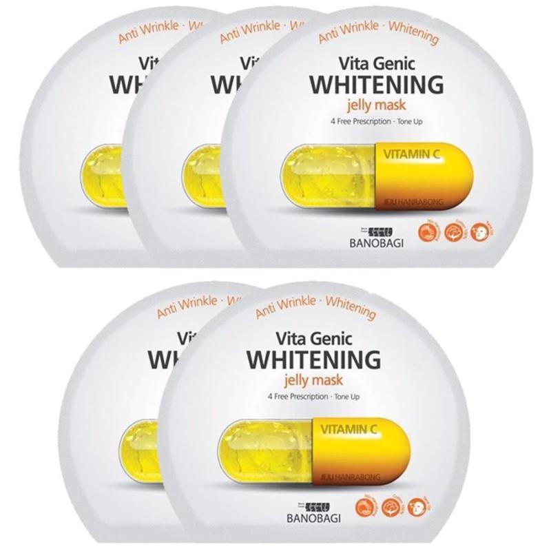 Bộ 5 miếng mặt nạ dưỡng sáng da Vitamin C Vita Genic Whitening Mask (30mlx5miếng) cao cấp
