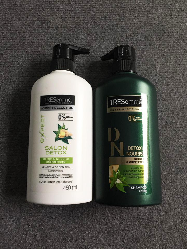 Cặp dầu gội dầu xả Tresemme detox 450ml Thái Lan - Mẫu Mới nhập khẩu