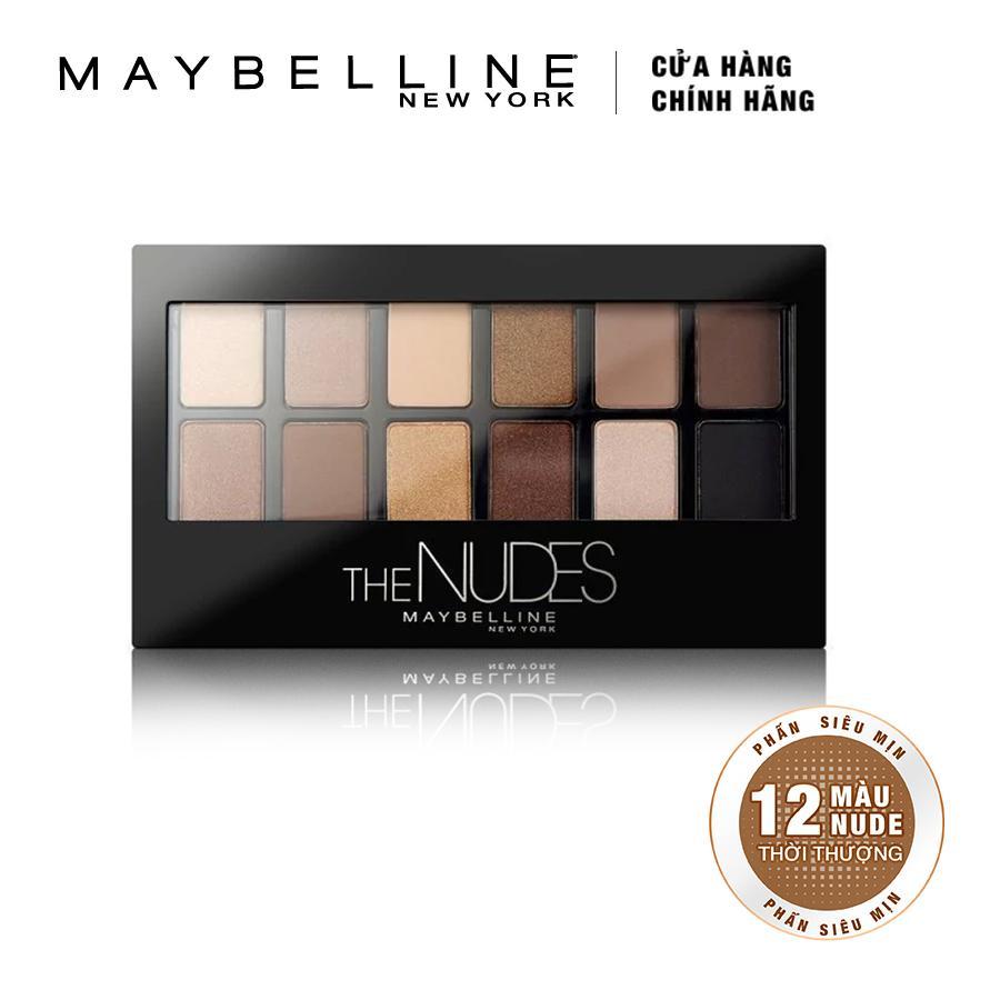 Hình ảnh Bảng phấn mắt Maybelline New York The Nudes Palette 12 màu 9g (Tông nude)