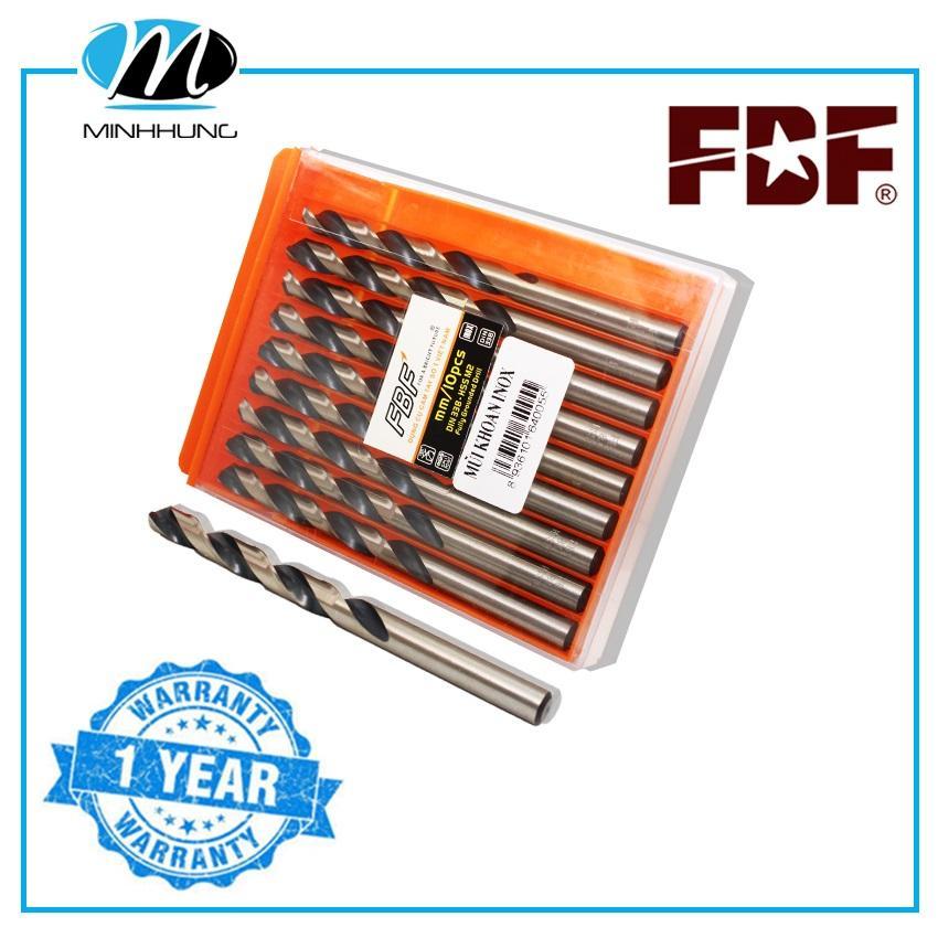 Bộ mũi khoan inox FBF 10 mũi size 2mm đến 5.5mm mũi khoan thép mũi khoan loại tốt chất lượng cao