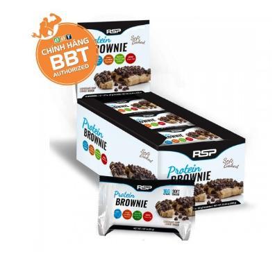 Bánh RSP Protein Brownie – Bánh Protein Thơm Ngon Cho Gymer vị Chocolate Chip- số lượng 1 cái bánh