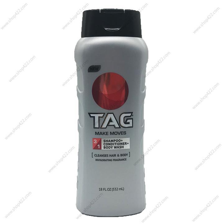 Sữa Tắm Gội Xả TAG 3in1 Make Moves 532ml nhập khẩu