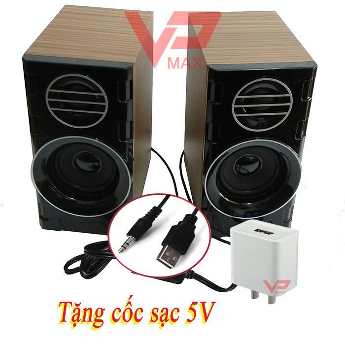 Giá Loa máy tính SkySound 818 - 2.0 - vỏ gỗ tặng kèm cốc 5V