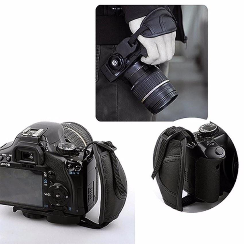 Offer Giảm Giá Dây đeo Máy ảnh Hỗ Trợ Cầm 1 Tay Da  Có đệm PU CV45