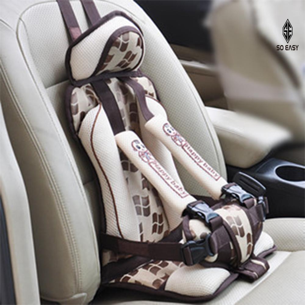 Hình ảnh Ghế ngồi phụ dày đa năng trên xe hơi, ô tô bảo vệ an toàn cho bé từ 9 tháng - 7 tuổi (dưới 25kg) _ DLB02 (kem hoa văn)
