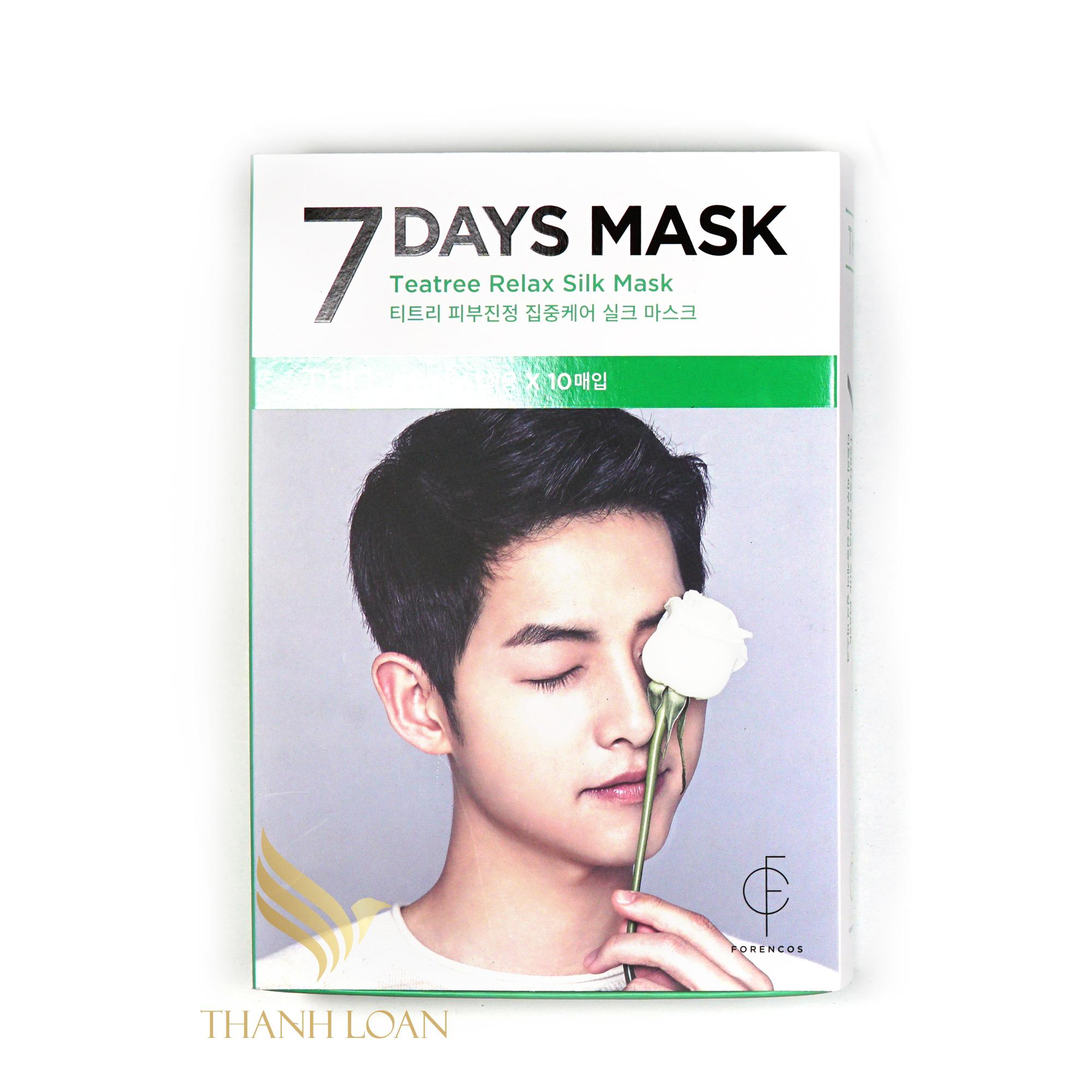 1 Mặt nạ FORENCOS 7 Days Mask ft Song Joong Ki - THURSDAY - Thanh Loan