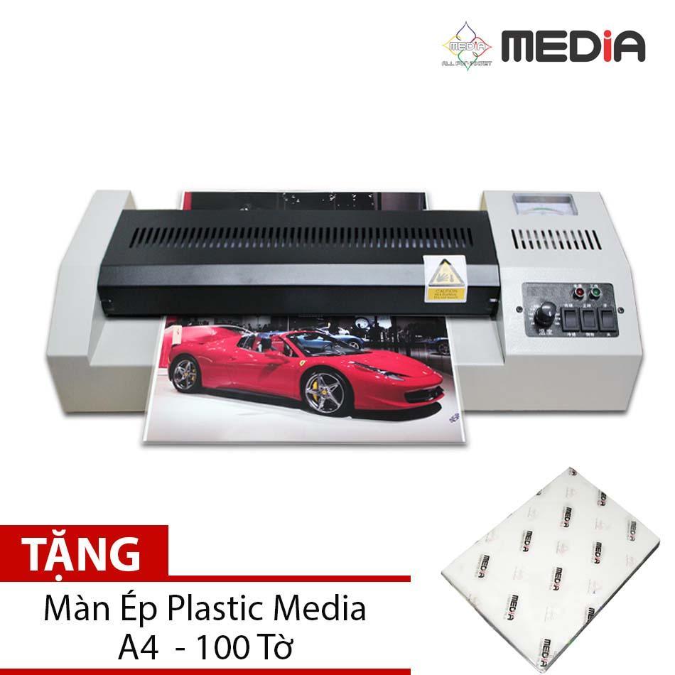 Hình ảnh Bộ Sản Phẩm Máy Ép Màn Plastic Media MD320 Khổ A3 + Màn Ép Plastic A4 100 Tờ