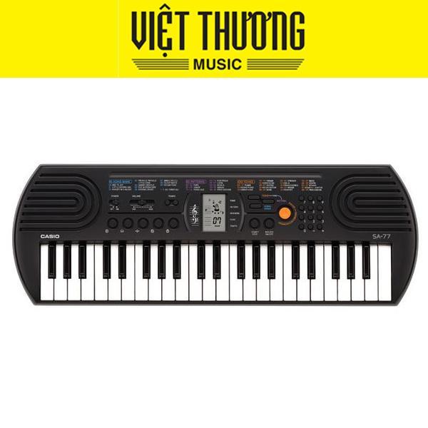 Đàn Organ Casio Mini SA-77 44 Phím Cỡ Nhỏ 100 Tiếng, 50 điệu Nhạc, 10 Bài Nhạc được Chọn, Màn Hình LCD Dễ đọc Giảm Cực Đã