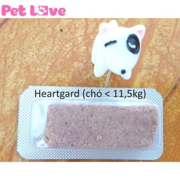1 viên Heartgard xổ giun tim, giun đũa, giun móc (chó dưới 11,5kg)