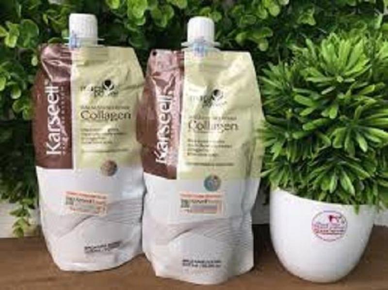 Combo 2 túi Kem ủ tóc COLLAGEN Karseell siêu phục hồi hư tổn 500ml, hàng Italia nhập khẩu