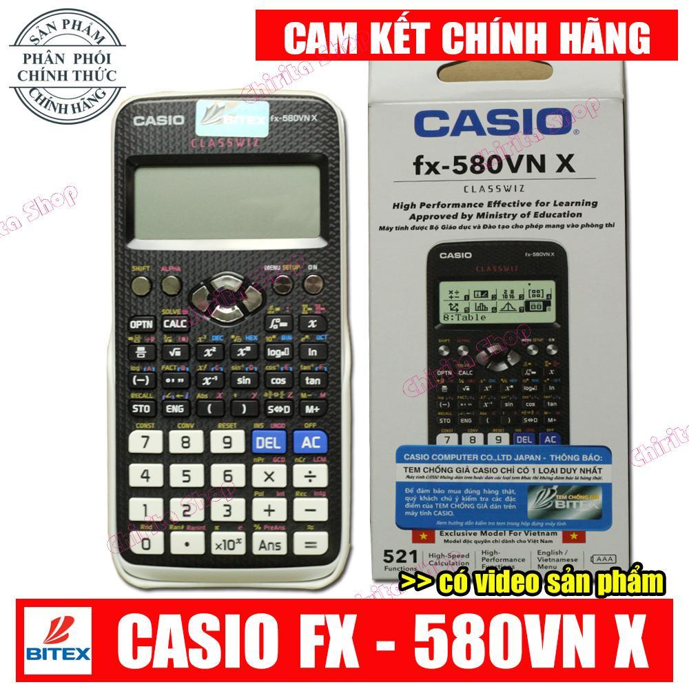 Mua Máy Tính Casio FX 580vnx - Casio Fx 580 VNX (580VN X) Chính Hiệu Cao Cấp Có Bảo Hành 2 Năm (Shop có Vinacal 570EX)