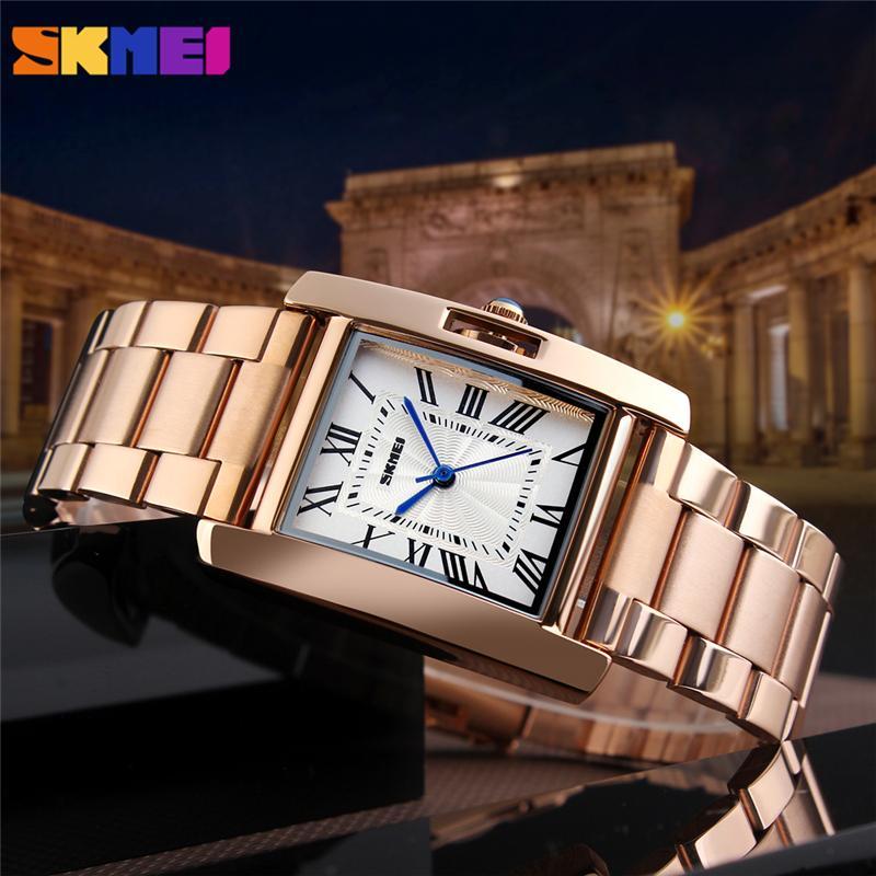 Đồng hồ nữ dây thép không gỉ Skmei 1284 sang trọng (Tặng pin đồng hồ) bán chạy