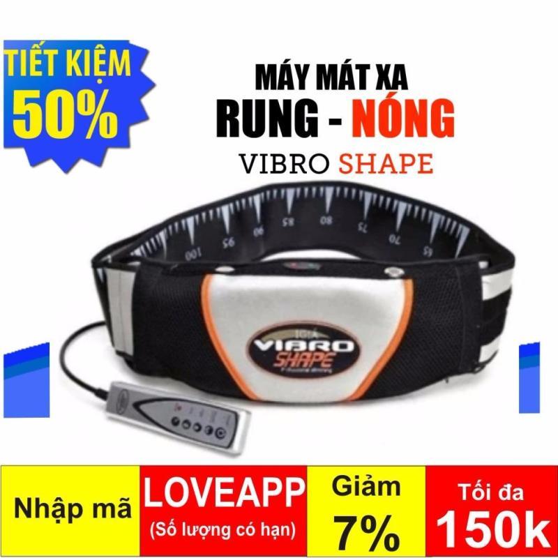 Đai massage giảm mỡ bụng nóng & rung Vibro Shape (Đen)