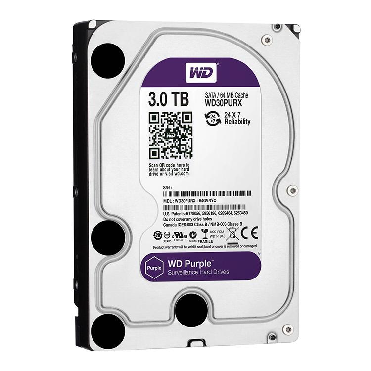 Hình ảnh Ổ cứng gắn trong HDD Western Digital Purple 3TB