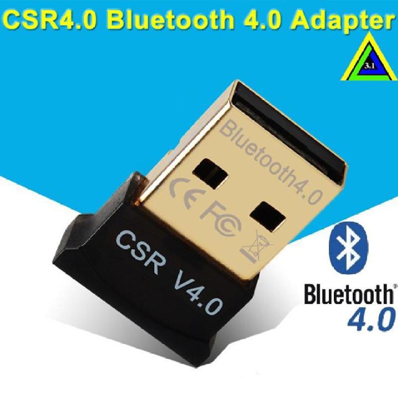 USB tạo bluetooth cho pc, laptop dongle 4.0 CSR - loai 1tự nhận không cần cài đặt